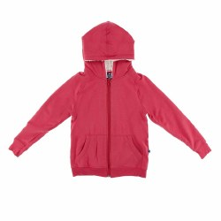 Sherpa Zip Hoodie Ginger 3T