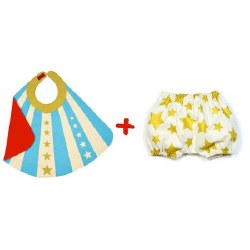 Blue Baby Hero Cape and Bloome