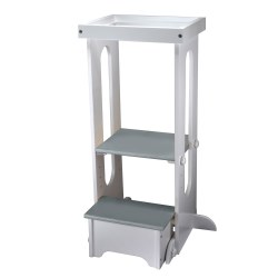 Explore N Store Learning Tower White with Grey