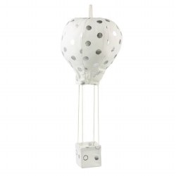 Hot Air Balloon Mobile Silver Dots