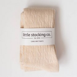 Cable Knit Tights Vanilla 3-4Y