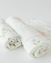 Deluxe Muslin Swaddle 2pk Pink Peony