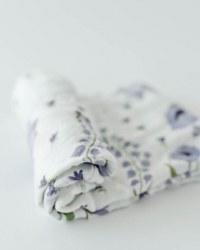 Deluxe Muslin Swaddle Blue Windflower