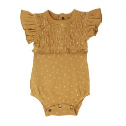 Smocked Bodysuit Honey Dots 6-9M