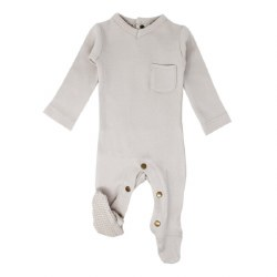 V-Neck Footie Grey 0-3m