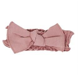 Tie Headband Mauve 12-24m