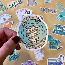 Ope Sneak Right Past Sticker