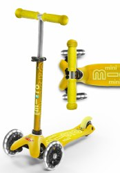 Mini Deluxe LED Scooter Yellow
