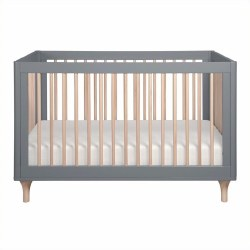 Lolly 3-in-1 Convertible Crib Grey/Natural