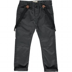 Black Suspender Pants 7-8y