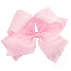 Mini King Grosgrain Bow Pink