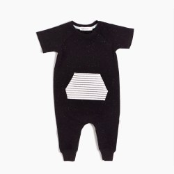 Games Playsuit Black 9m
