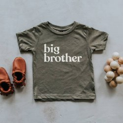 Big Brother Tee Olive 2T