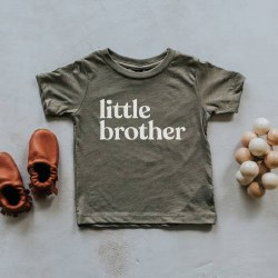 Little Brother Tee Olive 3-6m