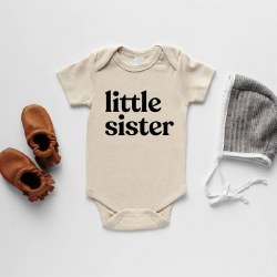 Little Sister Cream Onsie 0-3m