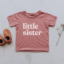 Little Sister Tee Mauve 6-12m
