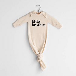 Little Brother Gown Cream NB