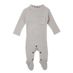 Mock Neck Overall Pebble 3-6m