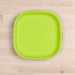 "Flat Plates 9"" Lime Green"