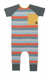 Rag Paint Stripe Blues 12-18m