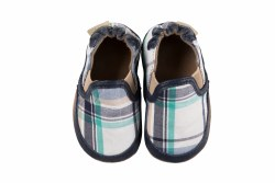 Liam Plaid Navy 6-12m