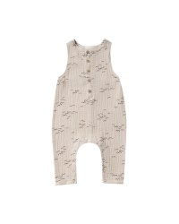 Flock Button Jumpsuit 6-12m