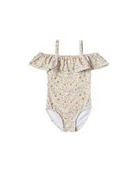 Flower Off Shoulder Suit 6-7y