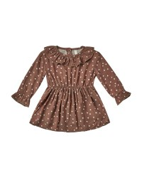 Dot Ruffle Collar Dress 6-12m