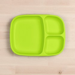 Divided Tray Lime Green