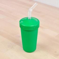 Straw Cup 10oz Kelly Green
