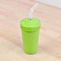 Straw Cup 10oz Lime Green