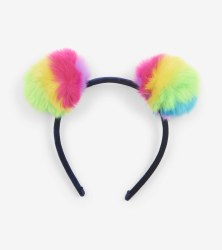 Prismatic Pom Poms Headband