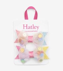 Floral Confetti Hair Clips