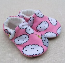 Slippers 3-6m Cranky Clouds