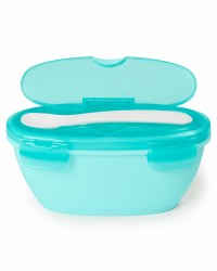 Easy Feed Travel Bowl and Spoon Turquoise
