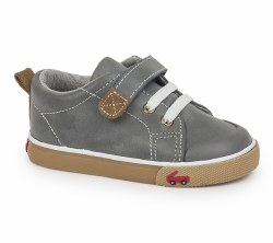 Stevie II Grey Leather 9.5