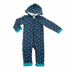 Fleece Romper Scribble 12-18m