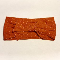 Headband Dots Rust