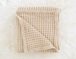 Honeycomb Blanket Sand