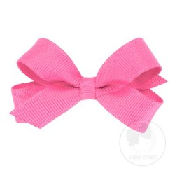 Tiny Grosgrain Bow Hot Pink