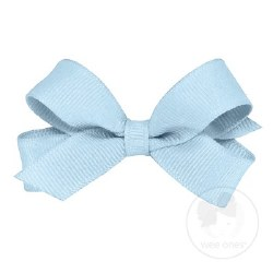 Tiny Grosgrain Bow Millennium Blue