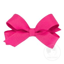 Tiny Grosgrain Bow Shocking Pink