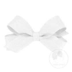 Tiny Grosgrain Bow White
