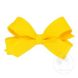 Tiny Grosgrain Bow Yellow