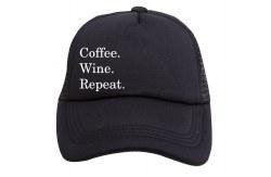 Mama Trucker Coffee Wine Repeat
