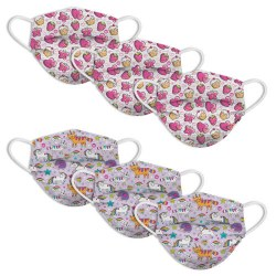 Disposable Kids Face Masks Club Unicorn + Butterfly