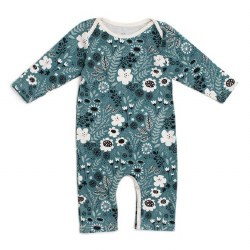 Romper Wildflowers Teal 0m