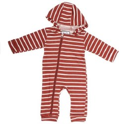 Cuddlesuit Clay/White 3-6m