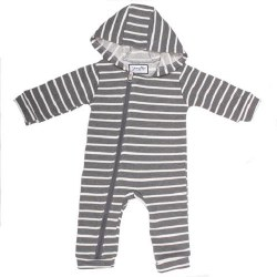 Cuddlesuit Grey/White 18-24m