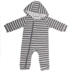 Cuddlesuit Grey/White 18-24m